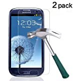 TANTEK TANTEK HD-Clear Tempered Glass Screen Protector for Samsung Galaxy S3 (2 Pack)