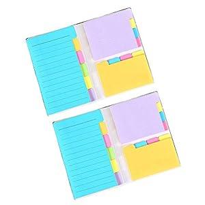 STOBOK Notas adhesivas Conjunto de 2, marcadores páginas colores Índice de marcadores Tabulaciones pegajosas Separadores…