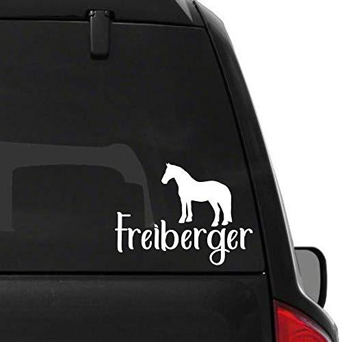 Pegatina Promotion Pferde Silhouette Typ2 ca 25 mit Schriftzug Freiberger reiten Reitsport Aufkleber Sticker Profi Qualität