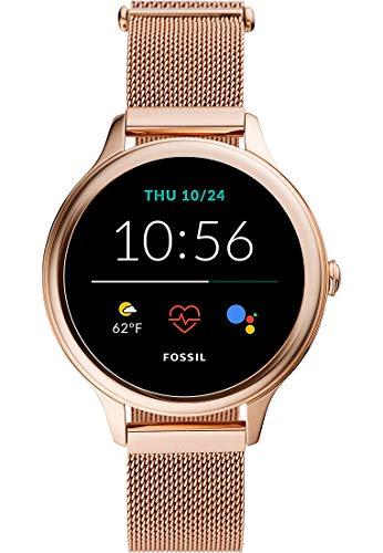 Fossil Connected Smartwatch Gen 5E para Mujer con Tecnología Wear OS de Google, Frecuencia Cardíaca, NFC y Notificaciones Smartwatch, Oro Rosa