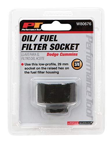 Performance Tool W80676 Cummins Fuel Filter Socket (For Dodge Cummins 5.9L Fuel Filter)