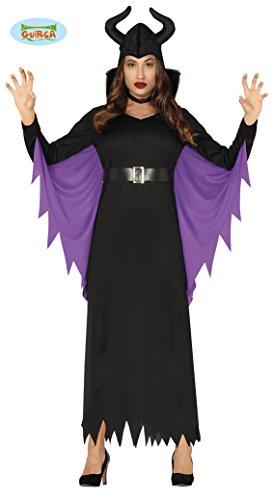 FIESTAS GUIRCA 88319, Disfraz de Reina Maléfica para Mujer, Adulto, Negro, Morado, Talla L
