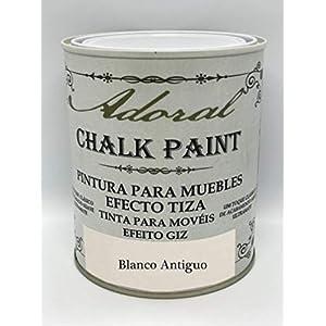 Adoral – Pintura Chalk Paint Pintura a la Tiza Decoración de Muebles (Blanco Antiguo) 750 ml