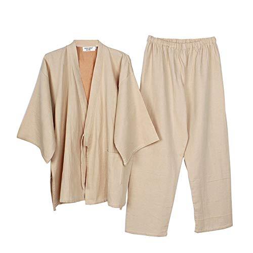 Trajes de Estilo japonés para Hombre Trajes de Pijama de Kimono Traje de Vestir Set-Patrones geométricos # 01
