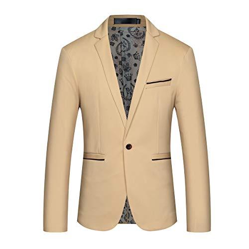 Corriee Mens Fall Winter Casual Long Sleeve Outdoor Jacket Men's Warm Hooded Sport Coats Khaki