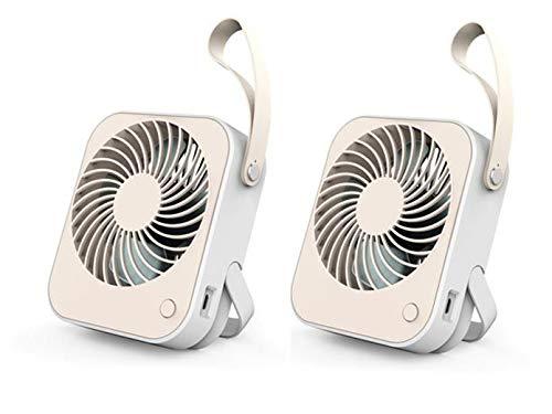 Veelzijdige USB-ventilatoren, mini-tafelventilator, 2-delige set – bureauventilator.