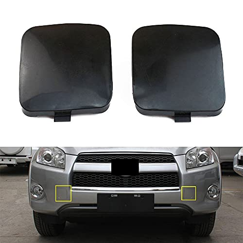 TOTMOX Car Tow Hook Eye Covers Fit for Toyota 2009 RAV4 Left & Right Eye Cover Cap Replacement L53286-0R020, R53825-0R020