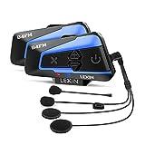 LEXIN B4FM-X Interfono Moto Con Radio Fm, Auricolare Bluetooth Per Casco con Cancellazione del...