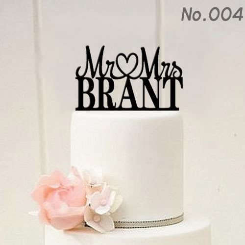 Custom Personalized Mr Mrs Wedding New product!! Your Ranking TOP12 Topper Last With Cake