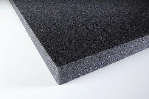 Espuma acústica Eurokustik con capa protectora autoadhesiva negra, 1...