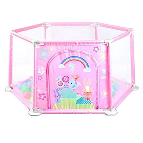 NMDCDH Dongyd Baby-Laufgitter Zaun Baby-Laufgitter Bettschutzgitter für Kinder Kinderschutz (Farbe: Pink, Größe: 148 * 66,5 * 64cm)