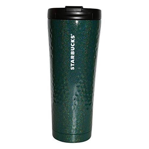 Starbucks Metalic Star Green - Taza térmica de acero inoxidable, 355 ml
