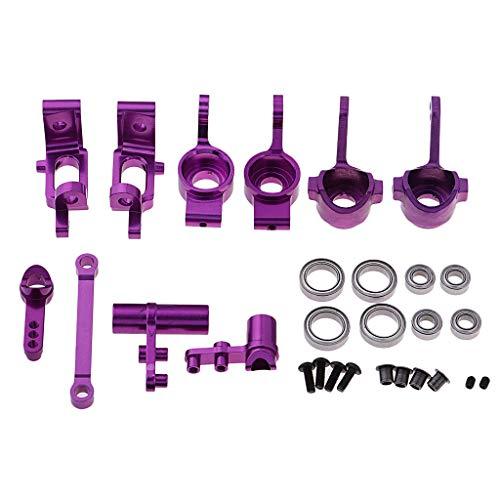 Fenteer Kit de Pièces de Direction Complet en Alliage d'Aluminium pour 1:10 RC Voiture HSP 4111 94188