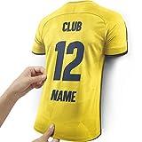 Elbeffekt Lámpara de Camiseta para los Fans del Villarreal Hecha de Madera - Regalo Personalizable - Regale su artículo Individual para Fans del Villarreal Hecho de Madera Real
