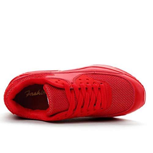 Sport Hardlopen Wandelschoenen Voor Dames Zomer Ademende Mesh-schoenen Lage Platformwiggen Sneakers Veterschoen Fitness Luchtkussentrainers