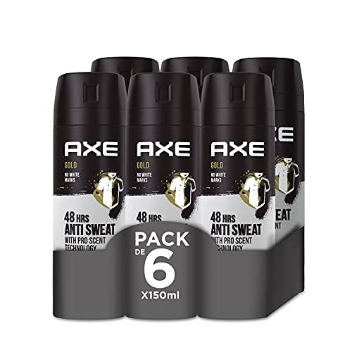 Axe Gold Rock Desodorante - 150 ml - Pack de 6