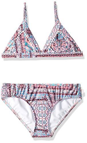 Seafolly Girls' Big Triangle Top Bikini Swimsuit Set, Maharaja Multi, 8