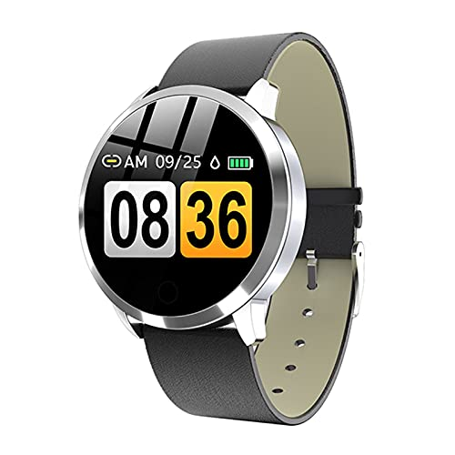 YYZ Rose Smart Watch Q8 Plus OLED Color Screen Smart Watch Women Fashion Fitness Tracker Monitor De Ritmo Cardíaco Pulsera para Android iOS,D