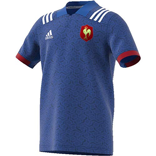 adidas BR3352 Maillot Enfant Bleu/Blanc/Powred FR : XS (Taille Fabricant : 164)