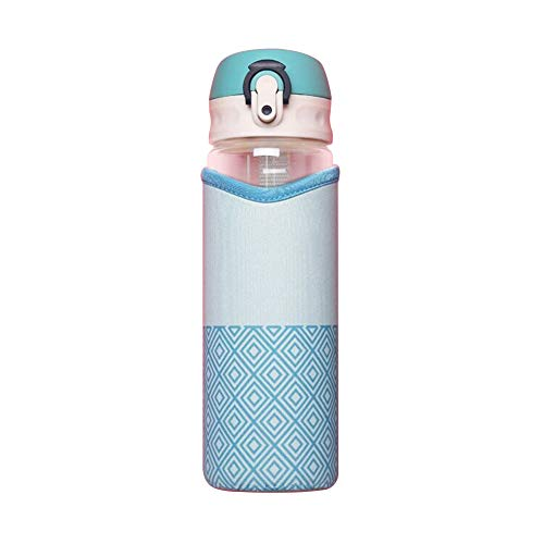 WeiMay 1 taza de cristal de moda con protección del medio ambiente, taza creativa, color azul, 500 ml, tamaño: 22 cm x 6,5 cm