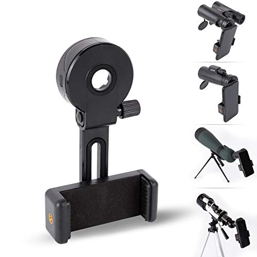 Universal Cell Phone Photography Adapter- LUXUN Smart Phone Adapter Mount-Quick Smartphone Adapter Holder Clip Bracket for Binoculars Telescope Monocular Spotting Scope Microscope Accessories