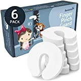 Finger Pinch Guard Door Stopper - 6 pack. Protect Child Fingers with Soft Durable Safety Foam Guard. Baby Proof Doors, Draft Stop Cushion, Slam Bumper. Prevent Kids & Pets from Getting Locked in Room!
