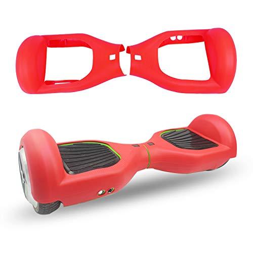 ABBY Protectora Funda de Silicona para 6.5' Smart Scooter Balance Patinete Electrico Hoverboard Cover (Rojo)