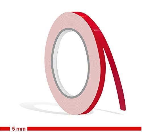 Siviwonder Zierstreifen rot Glanz in in 5 mm Breite und 10 m Länge für Auto Boot Jetski Modellbau Klebeband Dekorstreifen