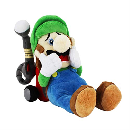 GHJU Super Mario Luigi Plüschtiere Horror Luigi mit Puppen Mansion Luigi Plüschtiere 18Cm QingQiao