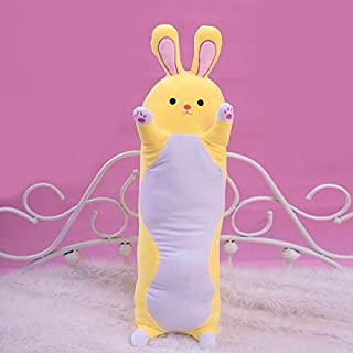 eSunny Sweet Rabbit Plush Long Pillow Soft Cartoon Animal Stuffed Doll Bed Chair Pillow Cushion Boyfriends Toy Kid Girl Best Gift Must Have Toys 5 Year Old Boy Gifts The Favourite Anime
