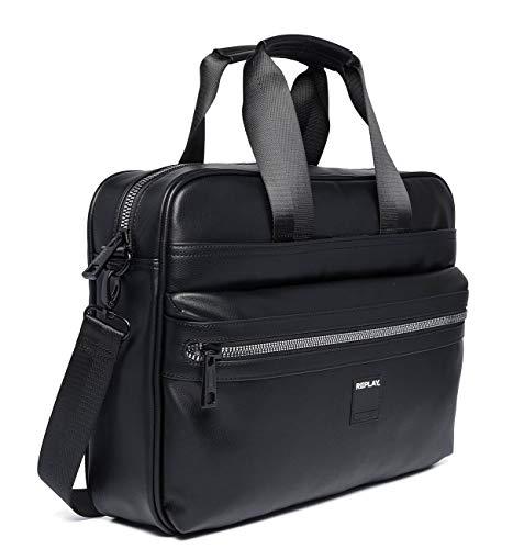 Replay Fm3437.000.a0015 Laptop tas voor heren, zwart, 8x30x40 centimeter (B x H x T)