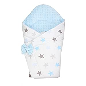 TupTam Manta Envolvente Arrullo Acolchado para Bebé, Estrella Azul, c. 75 x 75 cm