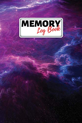 Memory Log Book Journal: Glamping Keepsake Memory Book with Prompts to Write in for Travel Adventure Notes, Record Memories Every Day of the Year! - Colorful Galaxy Cover Diary