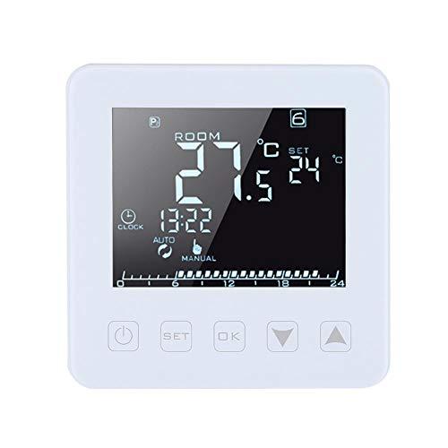 FTVOGUE Programmierbarer Thermostat, 16 A, LCD-Display, digital, Thermostat für elektrische Heizung, Raumthermostat