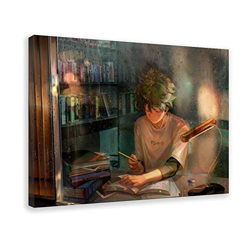 Pinterest Himiko Toga My Hero Academia Toga Anime Hero 33 Leinwand-Poster, Wandkunst, Dekordruck, Gemälde für Wohnzimmer, Schlafzimmer, Dekoration, 50 × 75 cm, Rahmen
