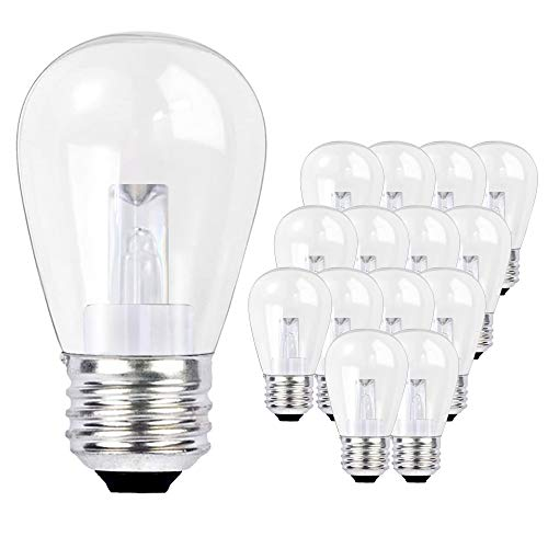 SUNTHIN 15 Pack 0.9W LED Light Bulbs for Home Lighting, Replacement Bulbs for SUNTHIN LED Outdoor String Lights (B07286WDM8, B0757KHM56)