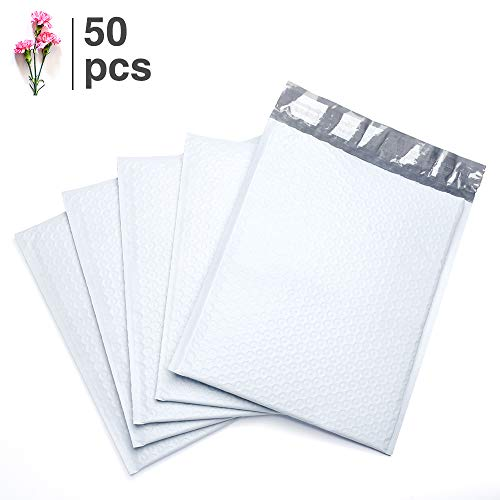 FU Global 6x10 Inches Poly Bubble Mailer Padded Envelopes #0 Mailer Bubble White Pack of 50 pcs