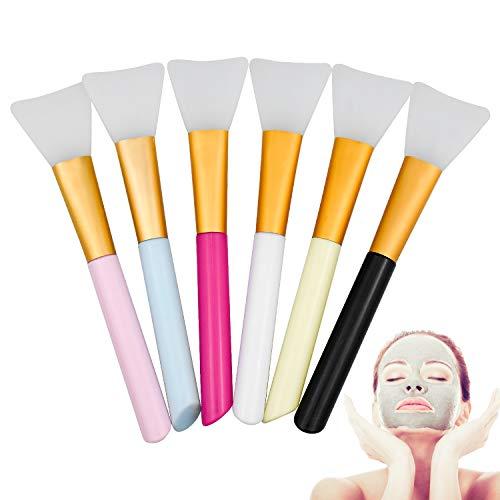 KARAA 6 Pezzi Pennello Maschera Viso, Pennello Maschera Strumento di Bellezza Morbido Silicone per il Corpo Glabro e Strumento Sbavature del Corpo