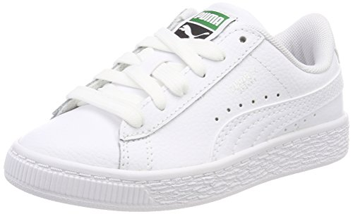 Puma Unisex-Kinder Basket Classic LFS PS Sneaker, Weiß White White 4, 29 EU