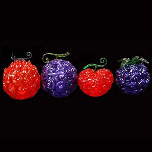 WISHVYQ UNA Pieza Anime Modelo Cirugía Fruta Todos Fruta Quema Fruta Fruta de Goma Luminoso Versión Escultura Decoración Estatua Muñeca Modelo Juguete Altura 10cm