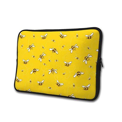 Cute Bee Bumblebee Water Repellent Neoprene Laptop Sleeve Case Bag Cover 13 15 Inch