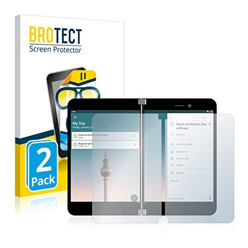 BROTECT Schutzfolie kompatibel mit Microsoft Surface Duo (2 Stück) klare Bildschirmschutz-Folie
