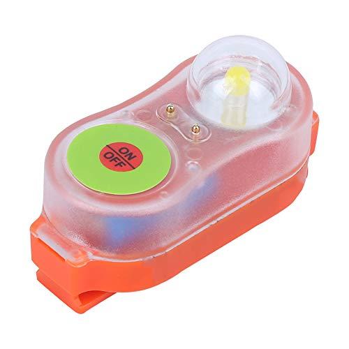 Deror Luz de Chaleco Salvavidas LED de Litio JHYD-I Agua de mar Autoiluminación Linterna Que Salva Vidas Lámpara de luz de atracción llamativa(Naranja)