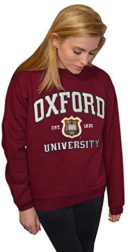 Oxford University OU201 - Sudadera unisex Licensed Maroon, Unisex adulto, color marrón, tamaño 50 cm