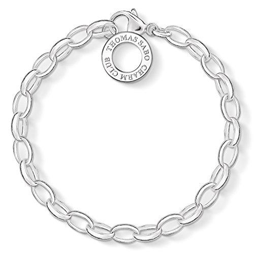 Thomas Sabo Women-Charm Bracelet Charm Club 925 Sterling Silver Length 16 cm X0032-001-12-S