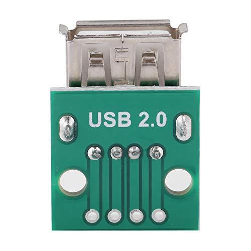10pcs Connecteur DIP Adaptateur de Conversion USB Type un Adaptateur Breakout Femelle USB 2.54mm Adaptateur de Connecteur d'en-Tête DIP