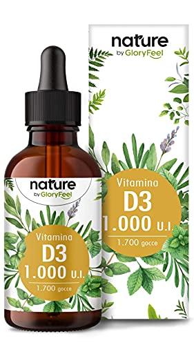 Vitamina D3 in Gocce 50ml, 1000 UI per Goccia, Supporta Ossa, Denti e Sistema Immunitario, Vitamina D Liquida Colecalciferolo in Olio MCD da Noce di Cocco ad Alta Stabilità, Integratore Vitamin D