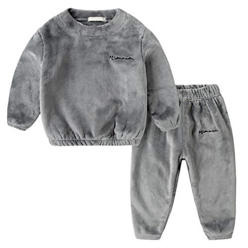DEBAIJIA Bebé Ropa de Casa 2-12T Infantil Homewear Niños Pijama Niña Ropa de Dormir Niño Camisones Franela Calentar Invierno
