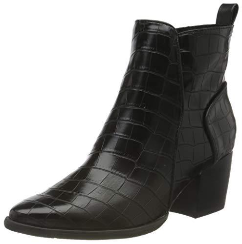 MARCO TOZZI Damen 2-2-25045-35 Stiefelette, Black Croco, 38 EU