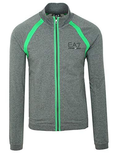 Emporio Armani EA7 Herren Men Sweatshirt Sweatjacke Pullover Grau Grey (L)